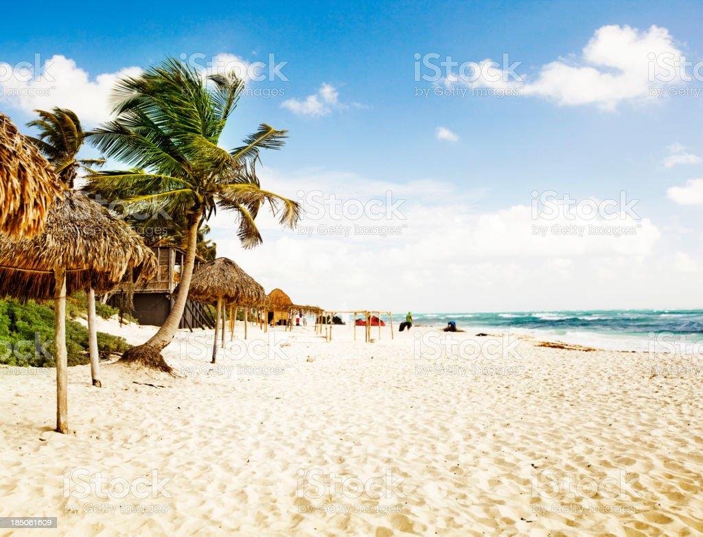 Tulum beach stock photo