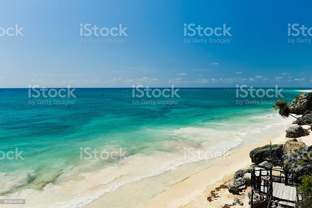 Tulum beach (horizontal) ストックフォト