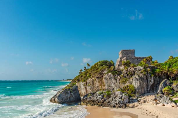 Tulum Maya Ruin, Mexico stock photo