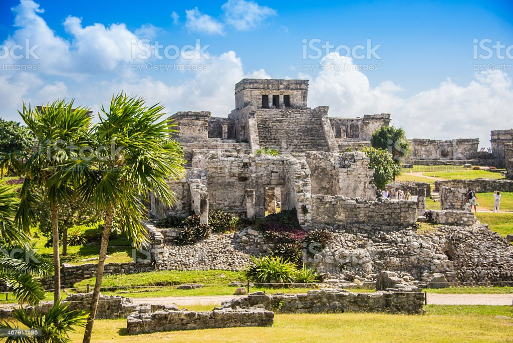 Tulum Mayan Ruins, Traveling Caribbean, Quintana Roo, Beautiful stock photo