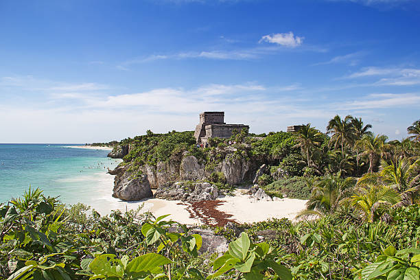 tulum - playa del carmen stock photos and pictures