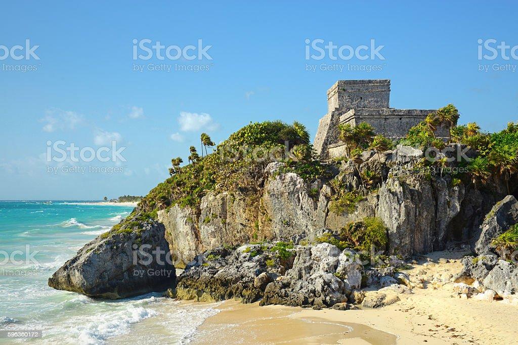 Tulum Ruins royalty-free stock photo