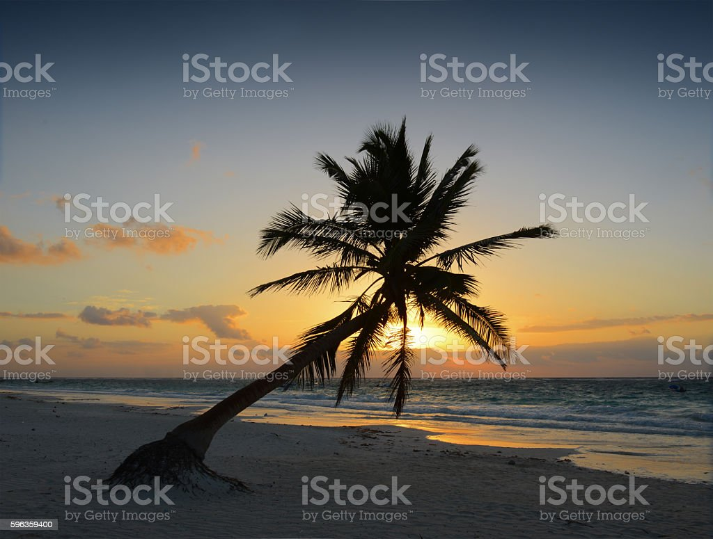 Tulum Sunrise royalty-free stock photo