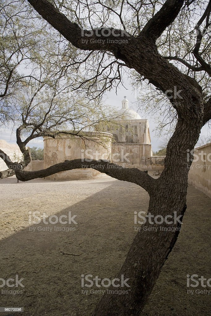 Tumacacori Mission, Arizona Vertical royalty-free stock photo