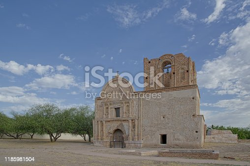 The historic Mission San José de Tumacácori sits in the Santa Cruz river valley in southern arizona near the mexican border town of nogales. Originally along the cross country trail from old mexico to san francisco the mission complex has been restored on the exterior, the interior not so much