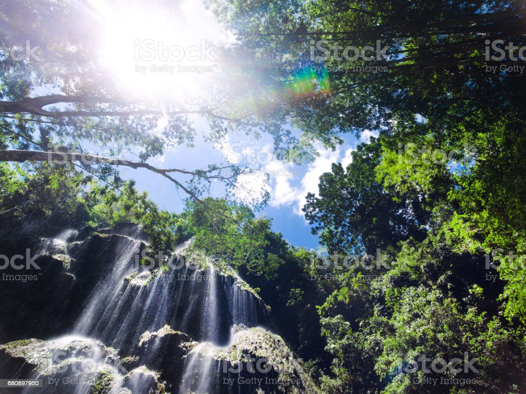 Tumaloc waterfall area royalty-free stock photo