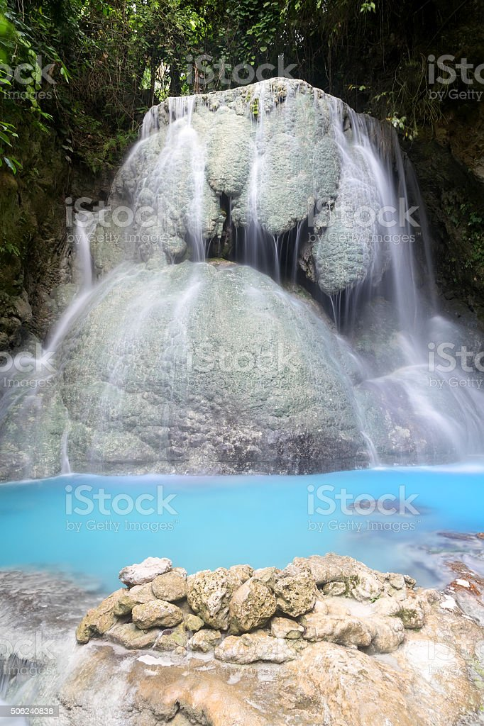 Tumalog Wasserfall in Cebu Lizenzfreies stock-foto