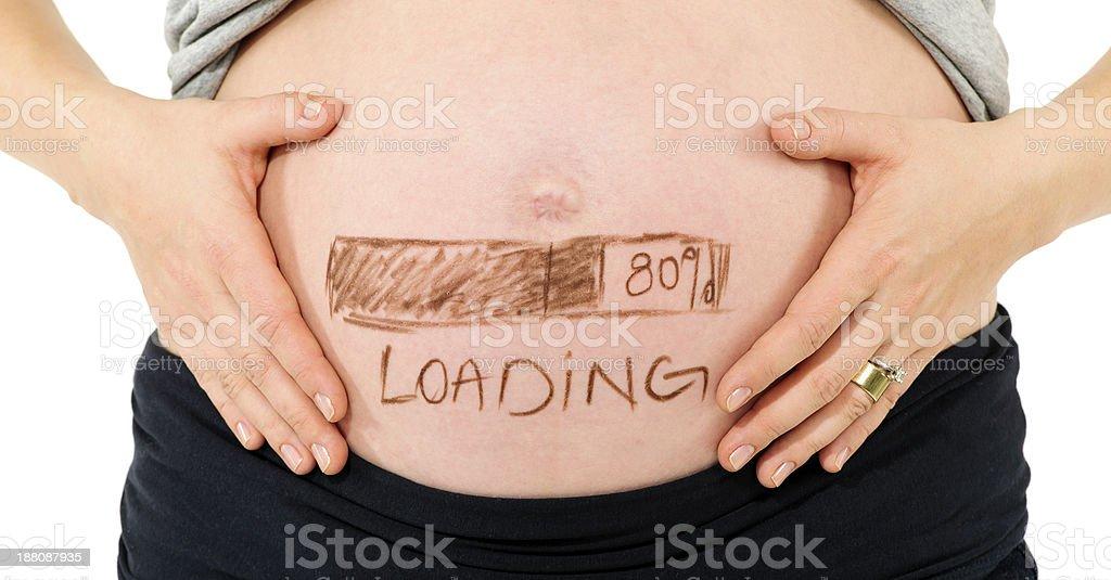 tummy loading stock photo
