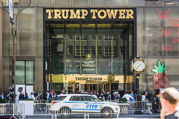 tump tower on fifth avenue, new york - stock image - donald trump us president стоковые фото и изображения