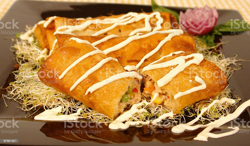 Tuna burrito royalty-free stock photo