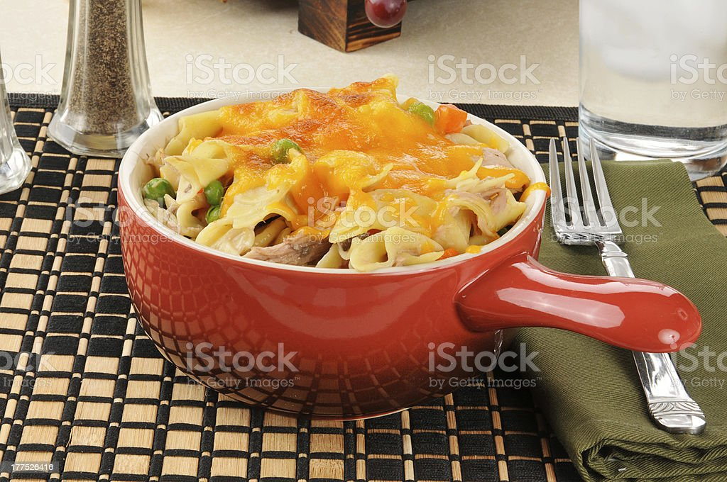 Tuna casserole dinner stock photo