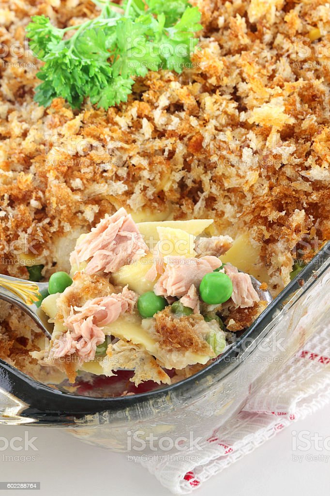 Tuna casserole stock photo