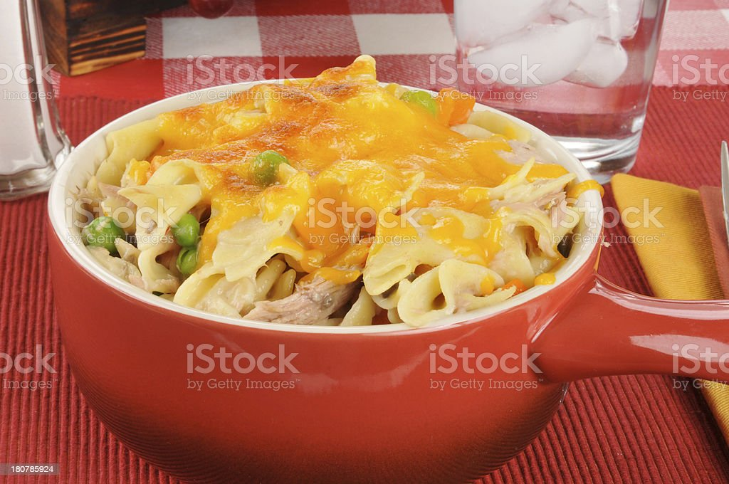 Tuna casserole with cheese stock photo