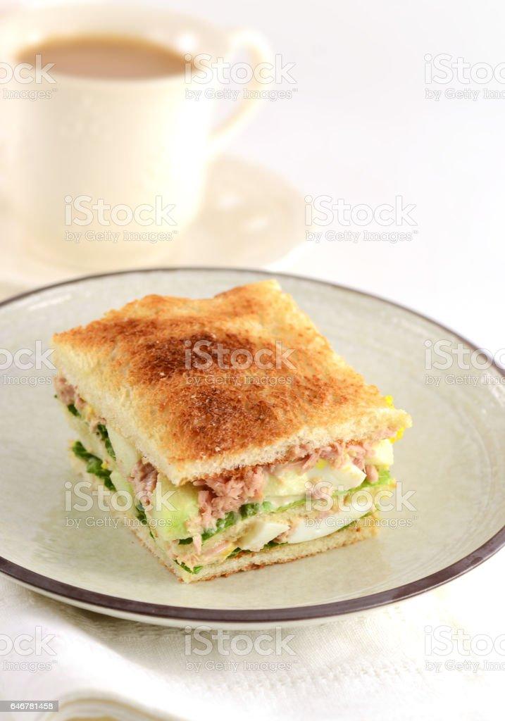 Tuna Egg Sandwich stock photo