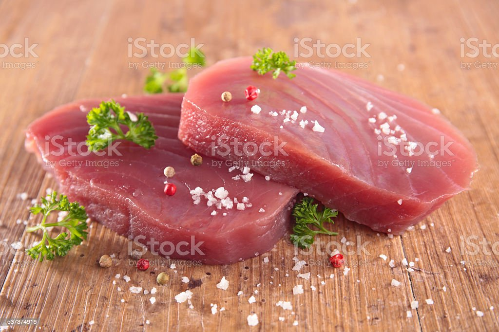 tuna fish fillet stock photo