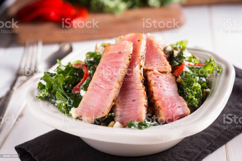 Tuna Kale Salad stock photo