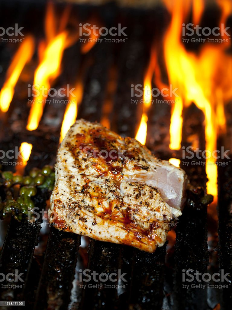 Tuna on the Grill royalty-free stock photo