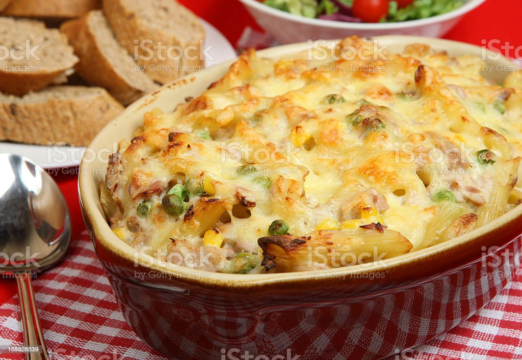 Tuna Pasta Bake stock photo