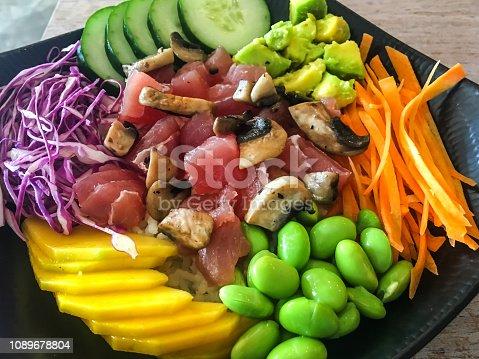 istock Tuna poke bowl salad 1089678804