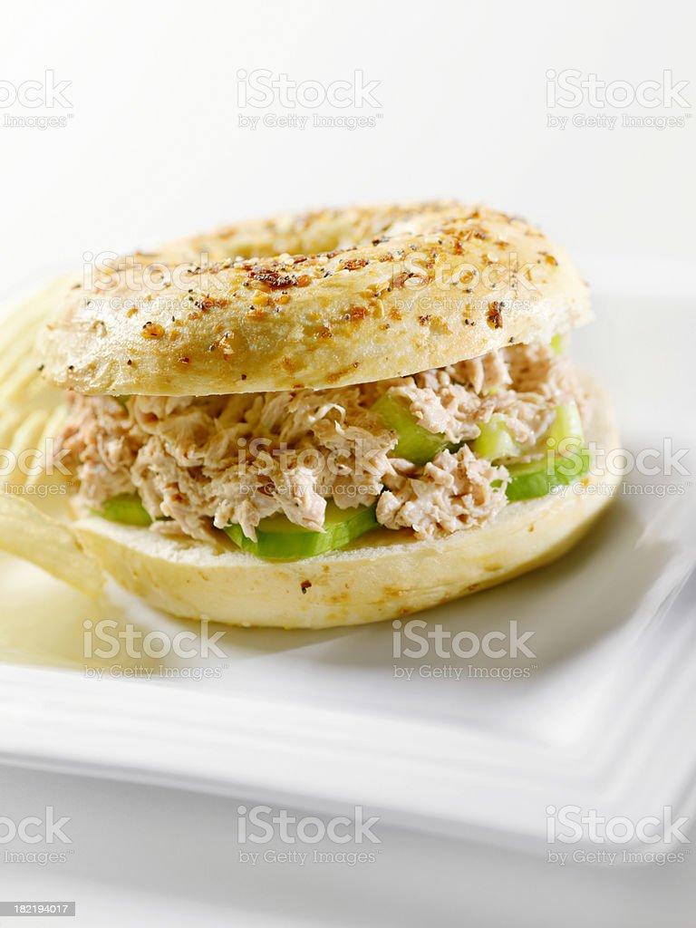 Tuna Salad Bagel royalty-free stock photo