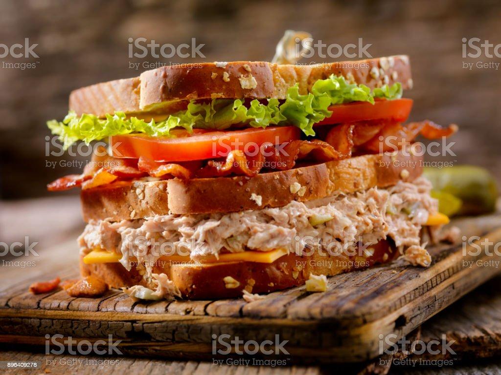 Tuna Salad, BLT, Clubhouse Sandwich stock photo