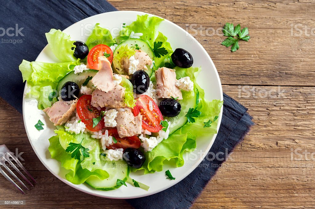 Tuna salad stock photo