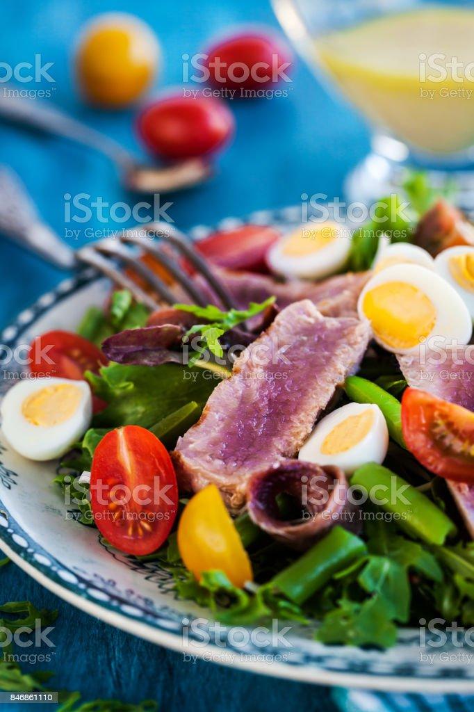Tuna salad ( Nicoise) stock photo
