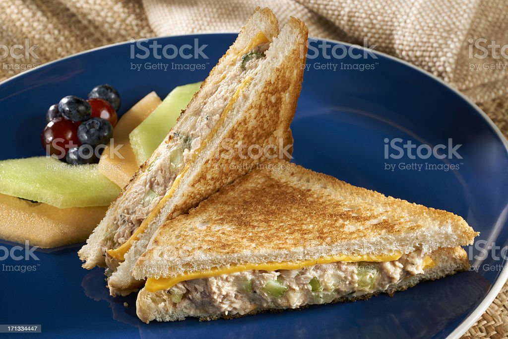 Tuna Salad Sandwich Melt royalty-free stock photo