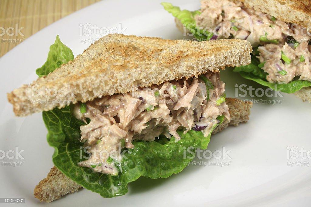 Tuna Salad Sandwiches stock photo