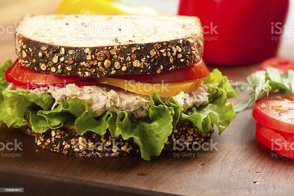 Tuna Sald Sandwich stock photo