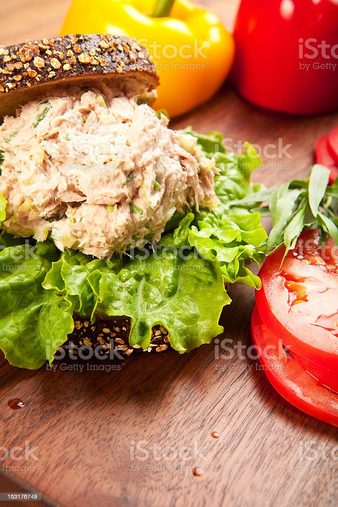 Tuna Sald Sandwich royalty-free stock photo