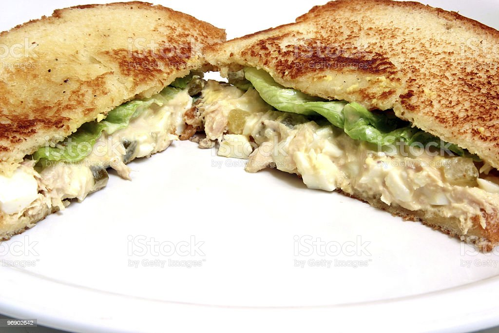 Tuna Sandwich royalty-free stock photo