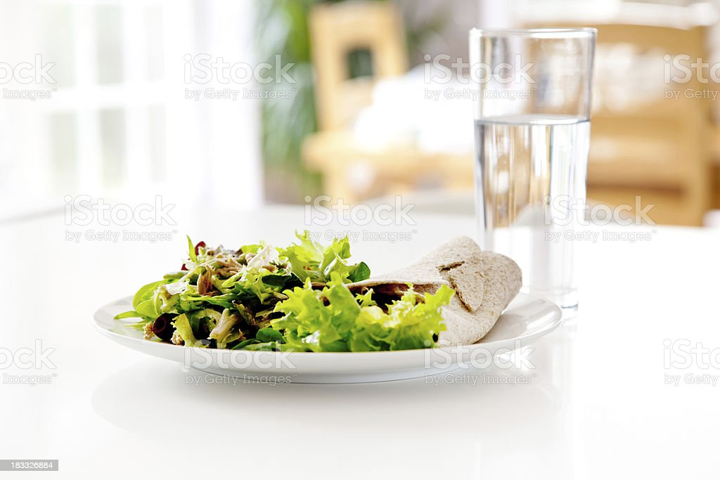 Tuna Sandwich Wrap royalty-free stock photo