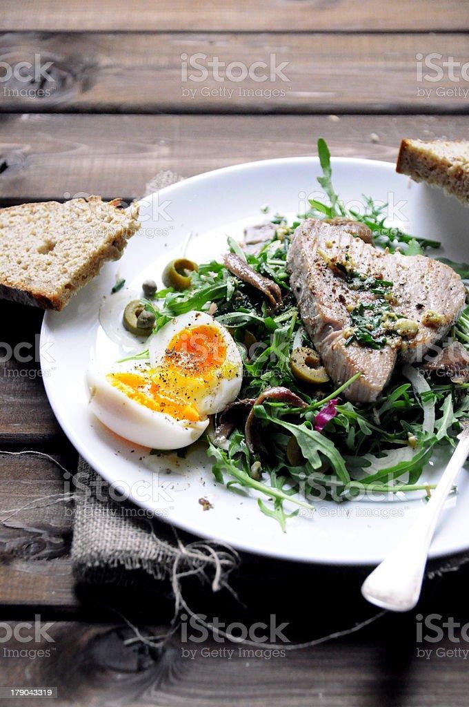 Tuna steak salad stock photo