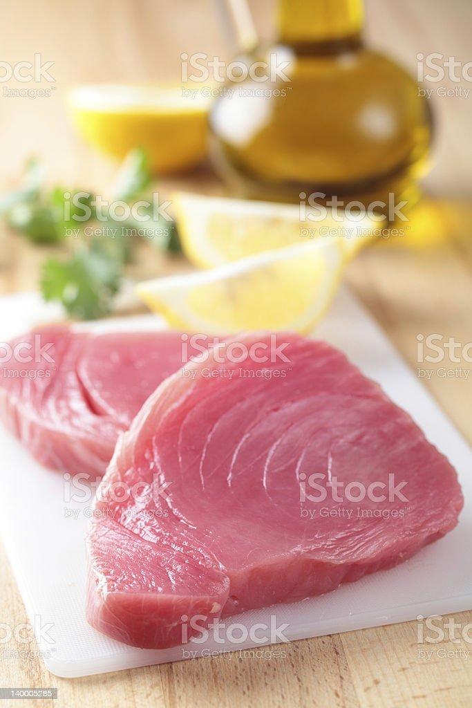 Tuna steaks stock photo