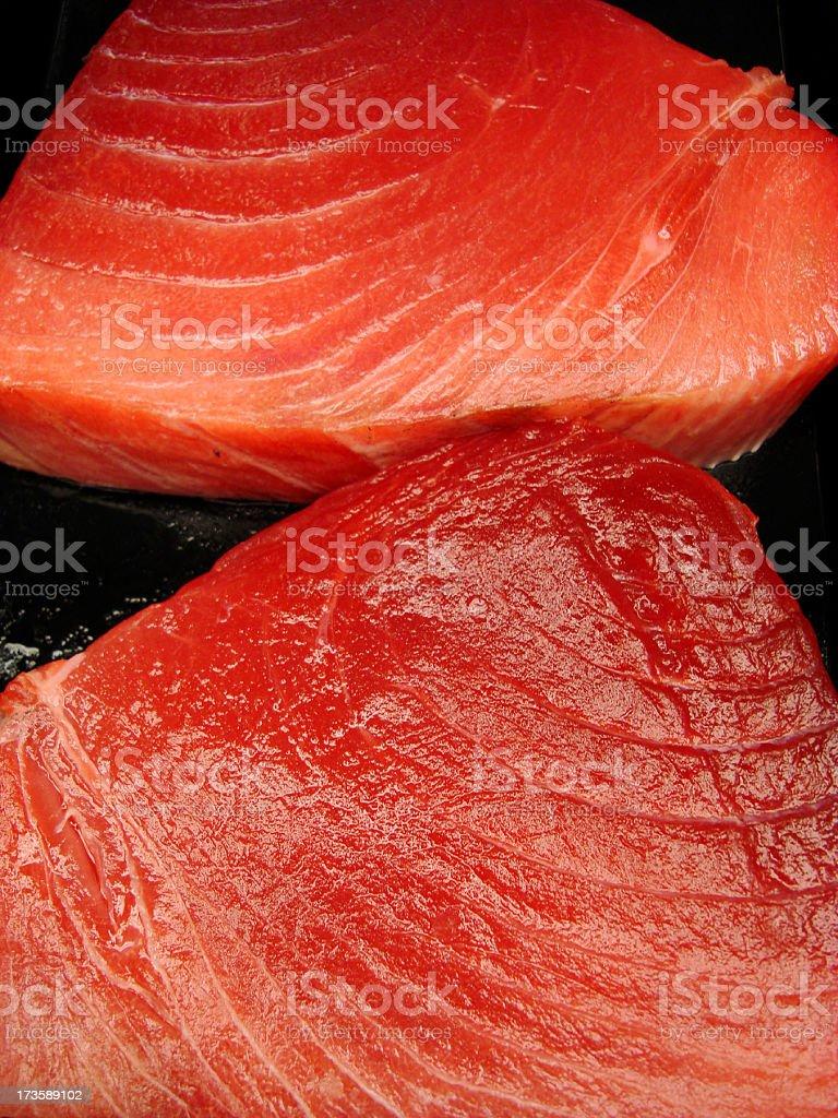 Tuna Steaks Yellow Fin royalty-free stock photo