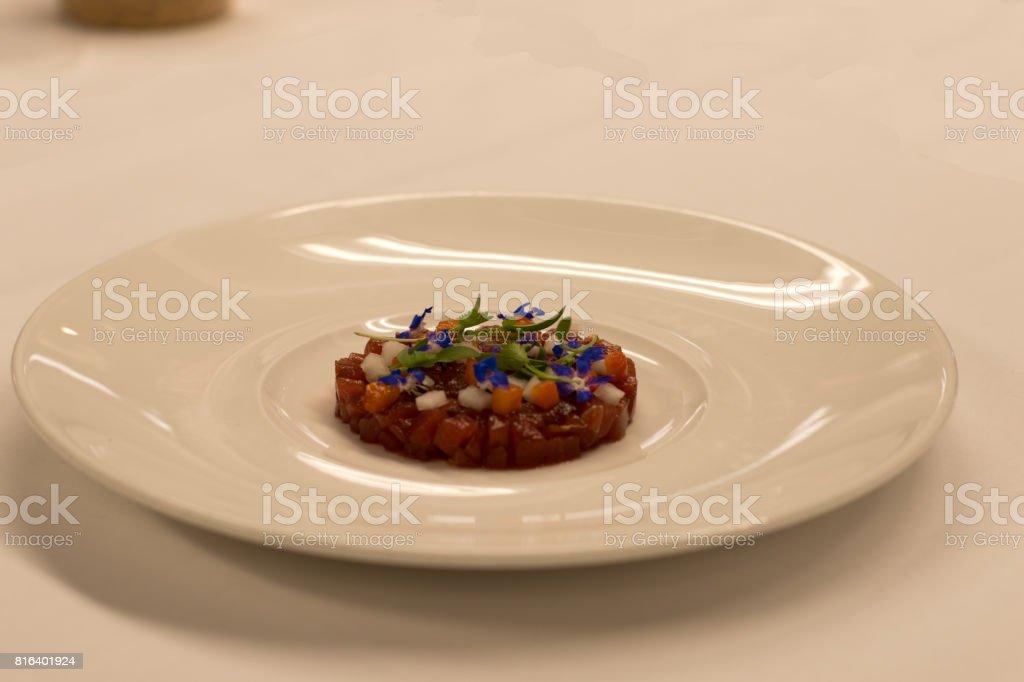tuna tartar stock photo