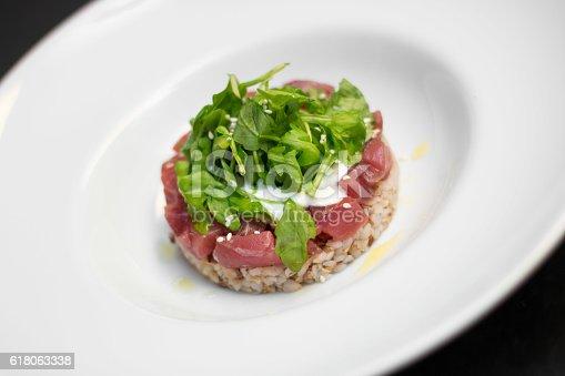 istock Tuna Tartar with rice 618063338