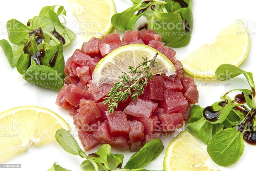 tuna tartare royalty-free stock photo