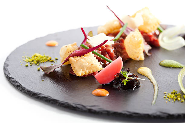 tuna tartare - food styling stock photos and pictures