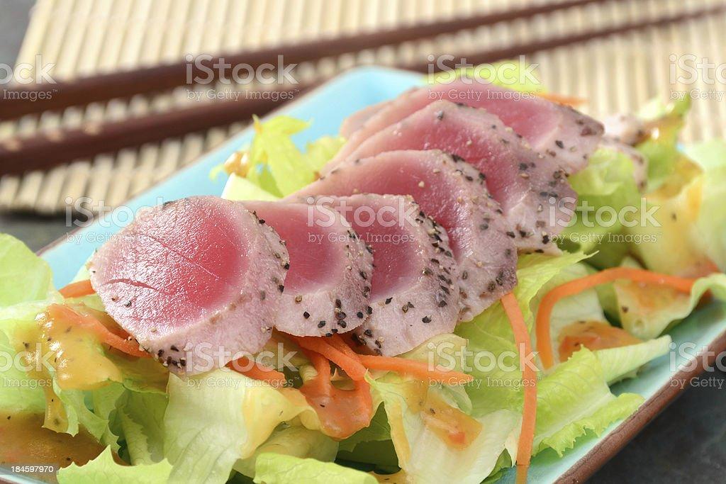 Tuna Tataki Salad royalty-free stock photo