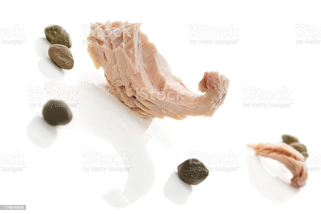 Tuna with capers. royalty-free stock photo