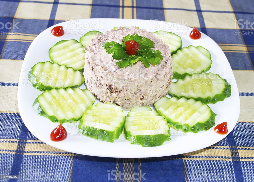 tuna with mayonnaise royalty-free stock photo