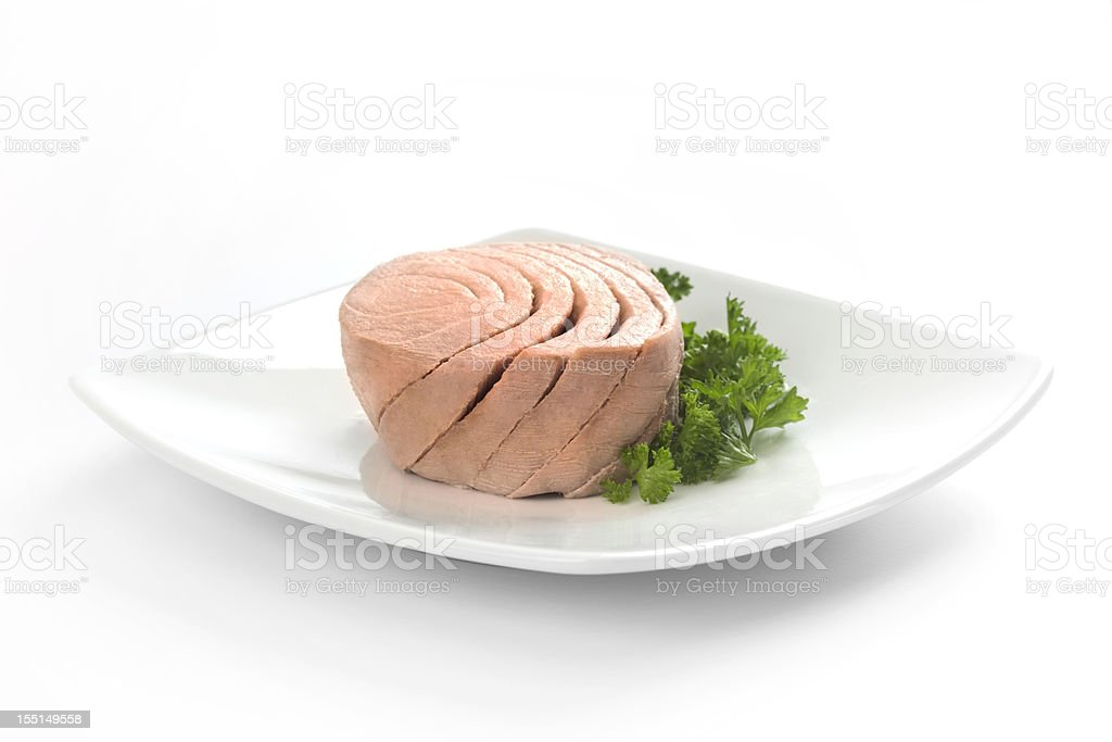 Tuna  with parsley stock photo