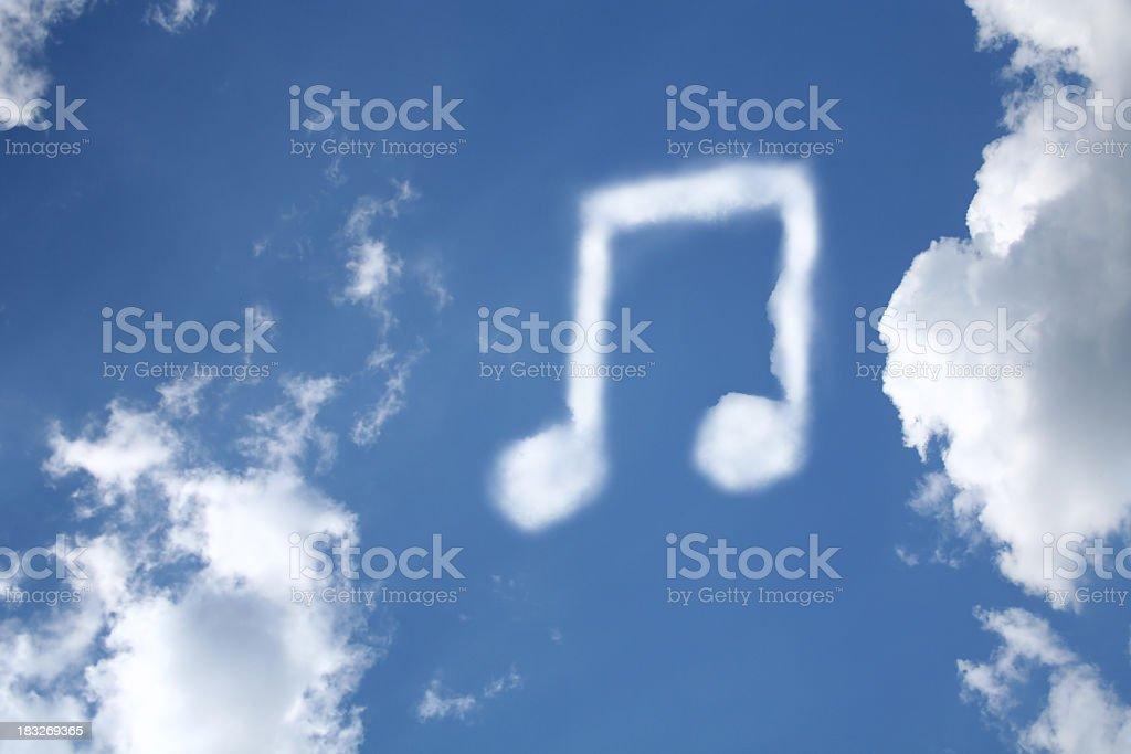 tune cloud royalty-free stock photo