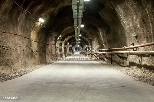 istock Tunel with concrete road 478340552