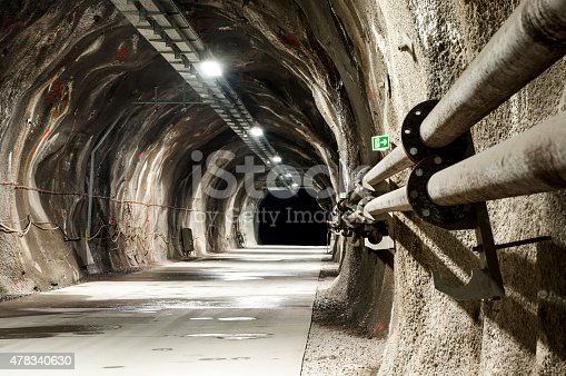 istock Tunel with concrete road 478340630