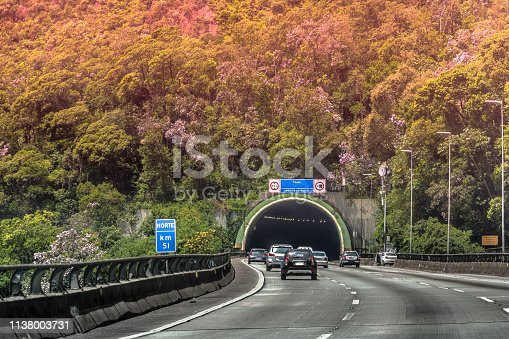 Panorâmica da Rodovia Anchieta, Serra do Mar - Cubatão, São Paulo, SP - Brasil.