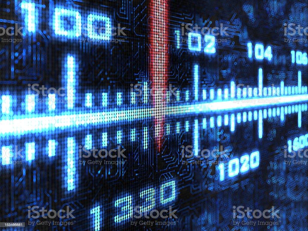 FM tuner background stock photo