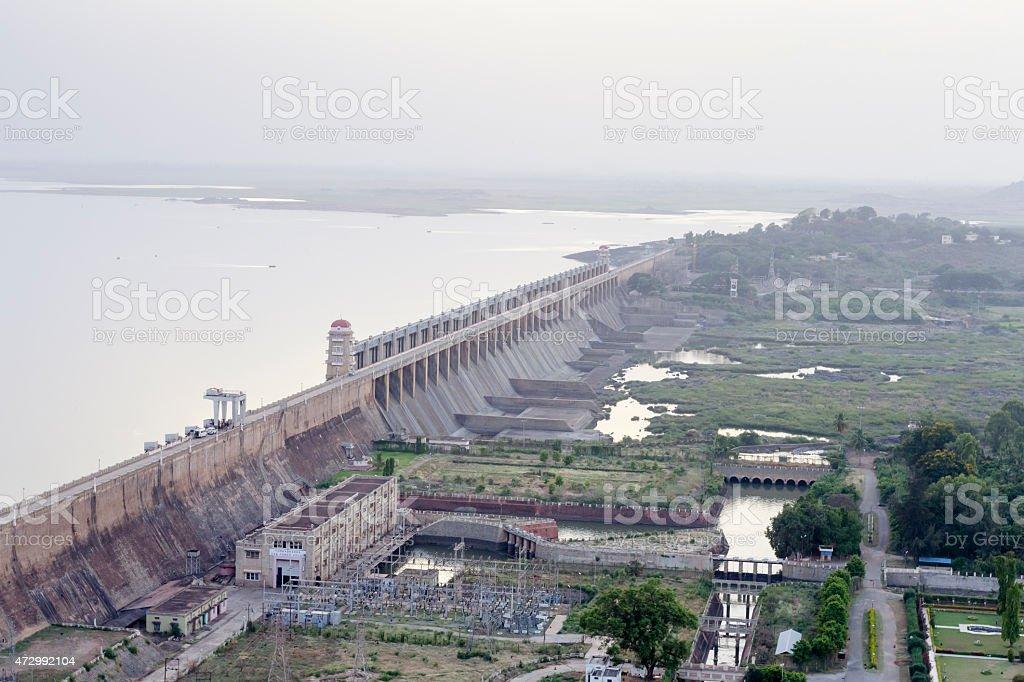 Tungabhadra Dam, Karnataka, India stock photo